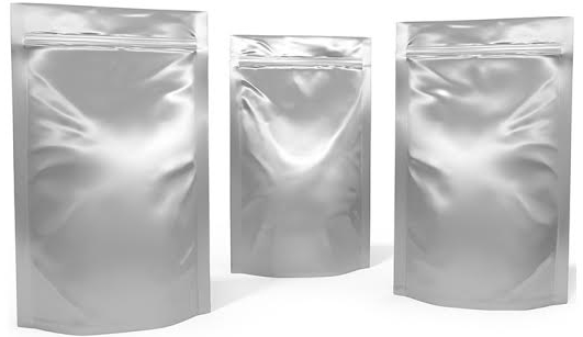 5x8.5x3 Silver Metallized Stand up Pouches, 1000