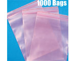 "9""x12"" (.004) Anti-Static Zip Close, 1000 Bags"