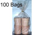 2.5 x 1.25 x 7.5 (.0014) Gusseted Cellophane, 100 Bags