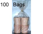 4 x 2.75 x 10.75 (.0014) Gusseted Cellophane, 1000 Bags