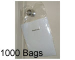 9x15 + 1.5 Lip Door Knob Poly Bags, 1000 Bags