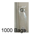 5.5x15 + 1.5 Lip Door Knob Poly Bags, 1000 Bags